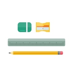 School tools supplies assortment individually vector