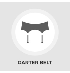 Garter belt flat icon vector