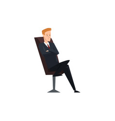 Businessman office worker or manager character vector