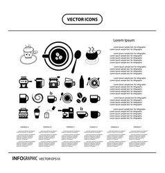 Cup and coffee info graphic icon vector