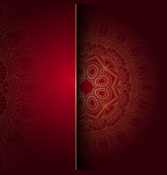 decorative mandala background vector image vector image