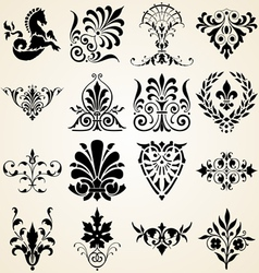 Decorative ornaments design elements vector image