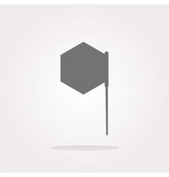 flag sign web button icon vector image
