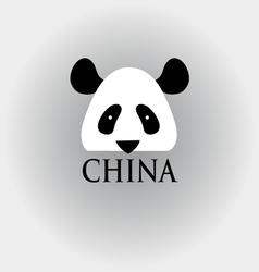 head panda sign vector image