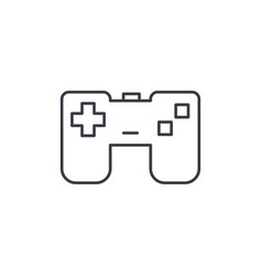 joystick gaming thin line icon linear vector image vector image