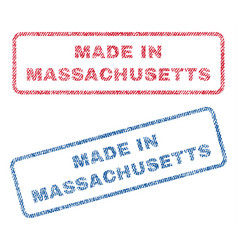 Made in massachusetts textile stamps vector