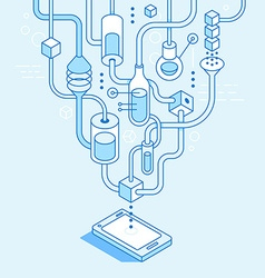 mobile app development concept vector image vector image