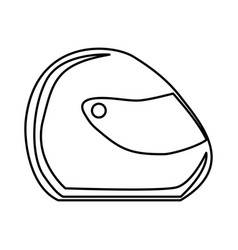 Monochrome contour of motorcycle helmet vector