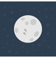 Moon flat design vector