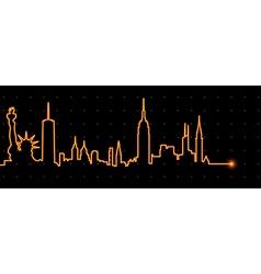 New York Cardiogram vector image