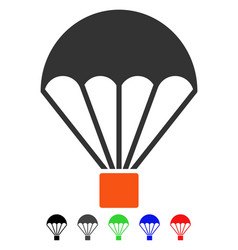 Parachute flat icon vector