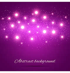 Purple Background with Lights vector image vector image