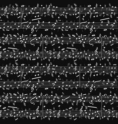 Seamless musical notation background vector