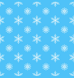 snowflake seamless pattern weather vector image vector image
