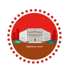 Supreme Court Concept Icon Flat Design vector image vector image