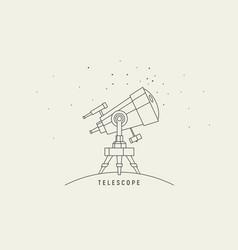 telescope line art vector image