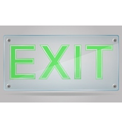 transparent sign exit on the plate 01 vector image