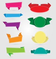 Variety of origami banners vector
