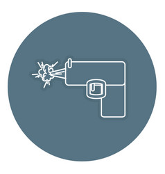 Weapon gun isolated icon vector
