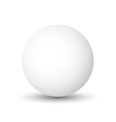 white sphere ball or orb 3d object with vector image vector image