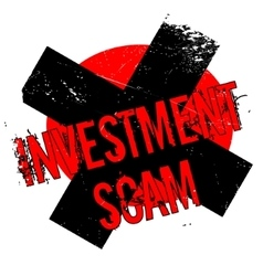 Investment scam rubber stamp vector