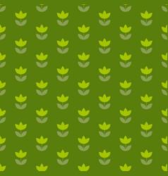 grass green color holland tulip repeatable motif vector image