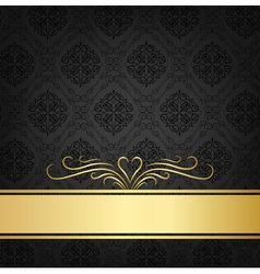 Black celebration card vector
