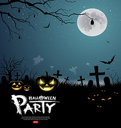 Halloween party scary design background vector