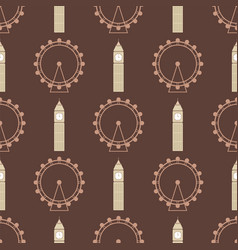 ferris wheel from amusement parks seamless vector image
