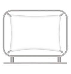 Billet press wall with blank banner vector