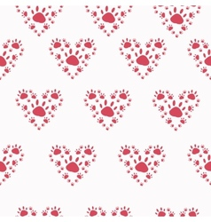Trace a pet in the shape of a heart vector