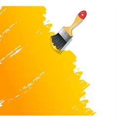 Paint brush with splash vector