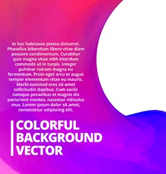 Colorful background with space for your text vector