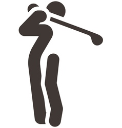 Golf icon vector