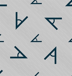 Angle 45 degrees icon sign Seamless pattern with vector image