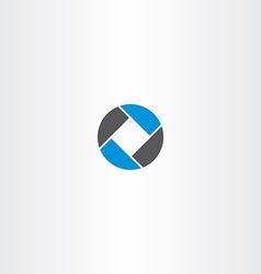 Square in circle abstract business logo vector
