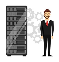 Web hosting design vector