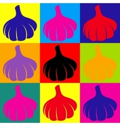 Garlic simple icon vector