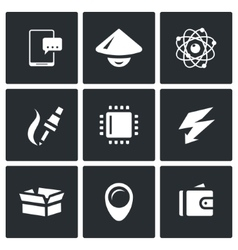 Set of electronic industry icons vector