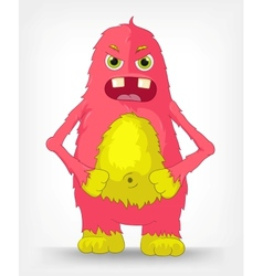 Funny monster engry vector