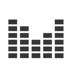 Audio levels icon isolated icon design vector