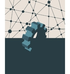 abstract cog wheel vector image