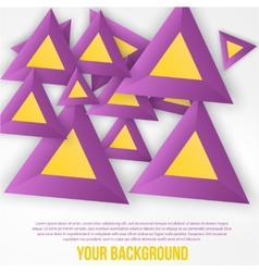 abstract triangles background Object web vector image vector image