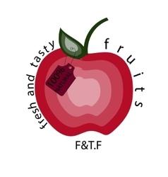 Apple natural apple logo vector image