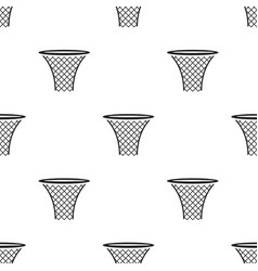 Basketball hoop icon in black style isolated on vector
