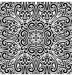 Black and white swirly pattern vector