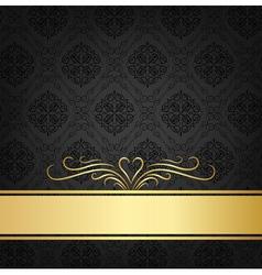 Black celebration card vector image