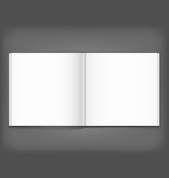 blank of open square magazine on grey background vector image vector image