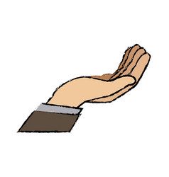 cartoon business man hand gesture help vector image