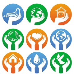 charity signs and logos vector image vector image